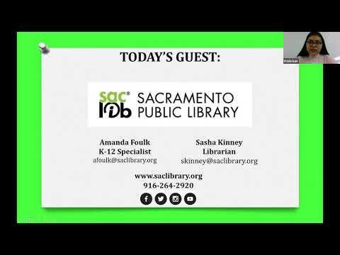 Virtual Parent Information Exchange Meeting featuring Sacramento Public Library
