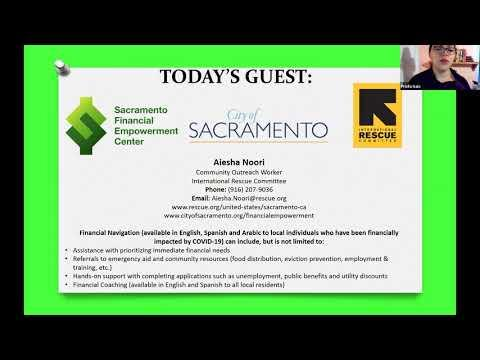 Virtual Parent Information Exchange (PIE) Meeting featuring Sacramento Financial Empowerment Center program